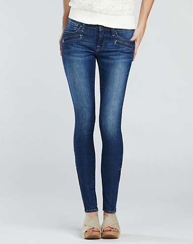Zippered Charlie Ankle Jeans*