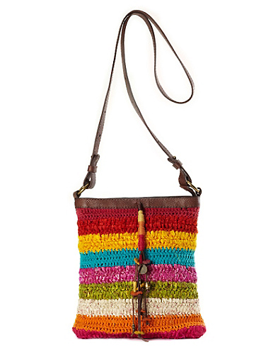 Zuma Beach Mixed Fabric Crossbody Bag