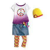 Peace Petals Outfit for Girls