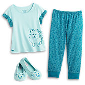 American Girl Pomeranian Pajamas & Slippers for Girls