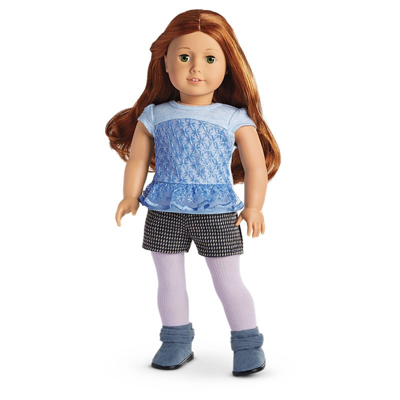 American Girl Peplum Top & Tweed Shorts Outfit for 18-inch Dolls