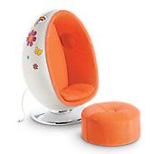 JULIE EGG CHAIR/OTTOMAN