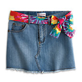 TIE-DYE BELTED SKIRT-JUL G