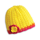 CROCHETED FLOWER HAT-JUL G