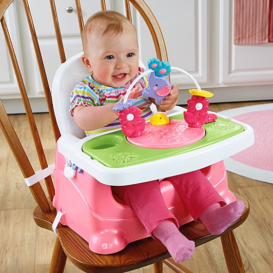 Silla de aprendizaje rosa for Silla fisher price