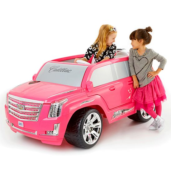 image for power wheels barbie cadillac escalade from mattel