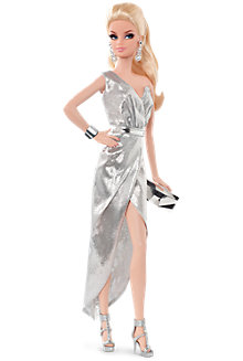 City Shine™ Barbie® Doll—Silver Dress