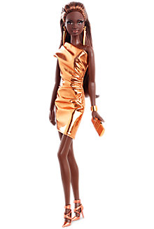 City Shine™ Barbie® Doll—Bronze Dress