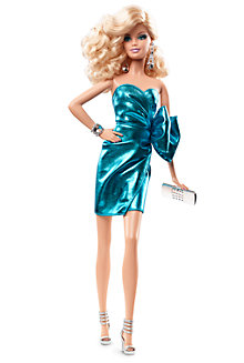 City Shine™ Barbie® Doll—Blue Dress