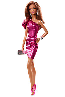 City Shine™ Barbie® Doll—Pink Dress