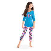 American Girl Blue Patterned Pajamas for Girls