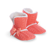 American Girl Coral Cuff Slippers for Girls