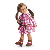 Western Plaid Outfit for Dolls