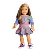 School Stripes Dress for Dolls