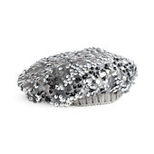 Silver Sparkle Beanie for Dolls