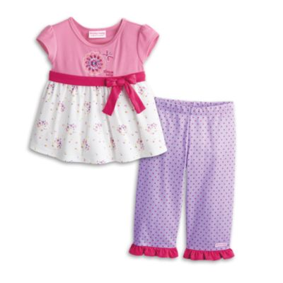 Flower & Dots PJ's for Little Girls