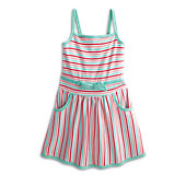 Striped Sweetheart Dress-ME G