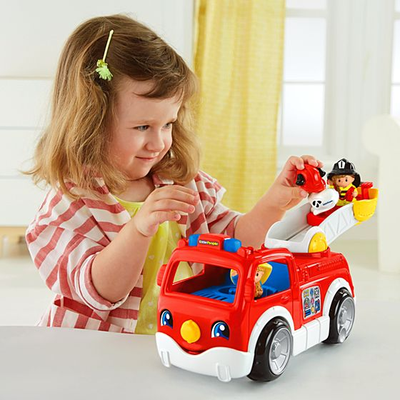 Toddler Toys People : Little people lift n lower fire truck shop