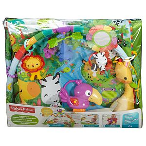 Rainforest music lights deluxe gym - Tapis d eveil fisher price zoo deluxe ...