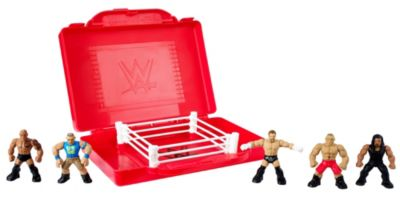 Mattel Brands: Mattel, Barbie, Fisher-Price & Hot Wheels - WWE Mighty Minis Portable Ring Playset Photo