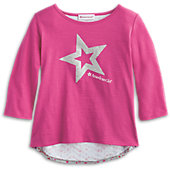 American Girl Sparkle Star Cutaway Tee for Girls