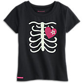 American Girl Skeleton Tee for Girls