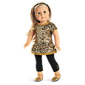 American Girl Golden Sparkle Outfit for 18-inch Dolls