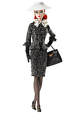 <em>Black & White Tweed Suit</em> Barbie&#174; Doll