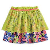Tiered Tropical Skirt for Girls