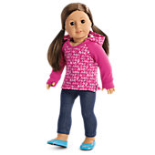American Girl V-Neck Hoodie for 18-inch Dolls