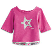American Girl Sparkle Star Cutaway Tee for Dolls