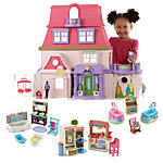 Loving Family Dollhouse & Room Starter Gift Set (African American)