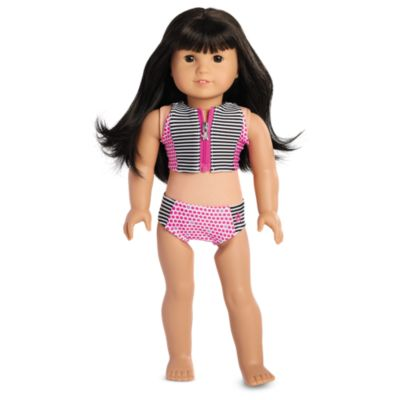 Stripes & Dots Swimsuit for 18-inch Dolls