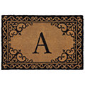 Scroll Corner Door Mat Monogram A