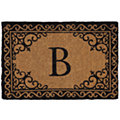 Scroll Corner Door Mat Monogram B