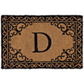 Scroll Corner Door Mat Monogram D