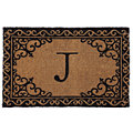 Scroll Corner Door Mat Monogram J