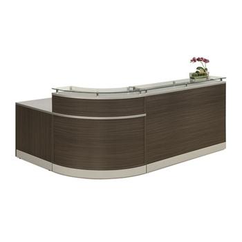 Esquire Glass Top Reception Desk - 79W x 63D - 10327 and more ...