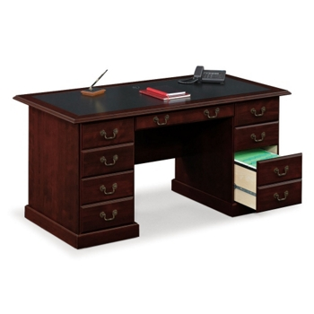 Sauder Traditional Executive Desk with Inlay Top | NBF
