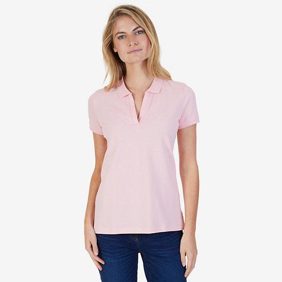 Split-Neck Polo Shirt
