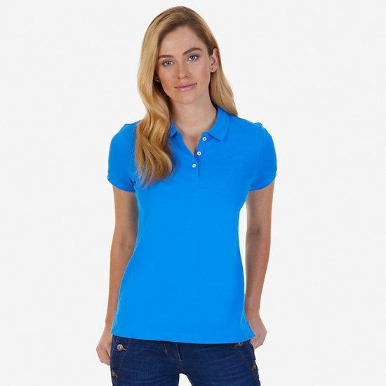 Classic Stretch Cotton Polo Shirt - Naval Blue