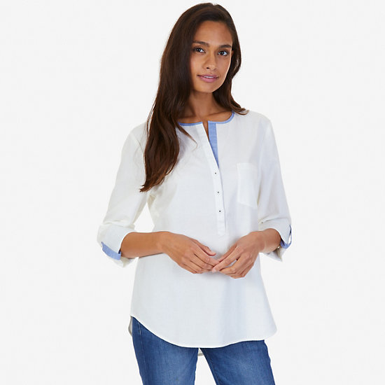 Popover Shirt,Marshmallow,large