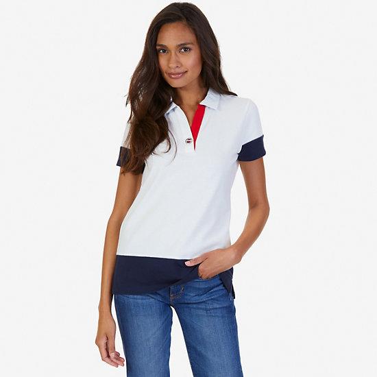 Pieced Polo Shirt - Marshmallow
