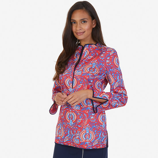 Paisley Tunic - Tomales Red