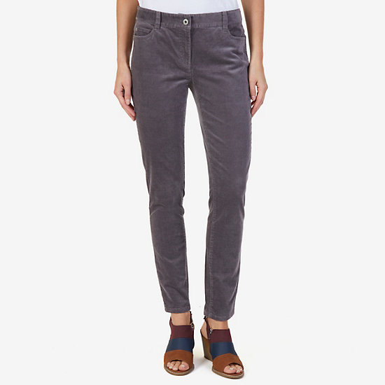 5-Pocket Stretch Corduroy Pant - Charcoal Hthr