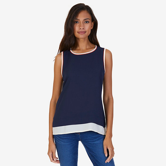 Georgette Layering Shell - Dreamy Blue