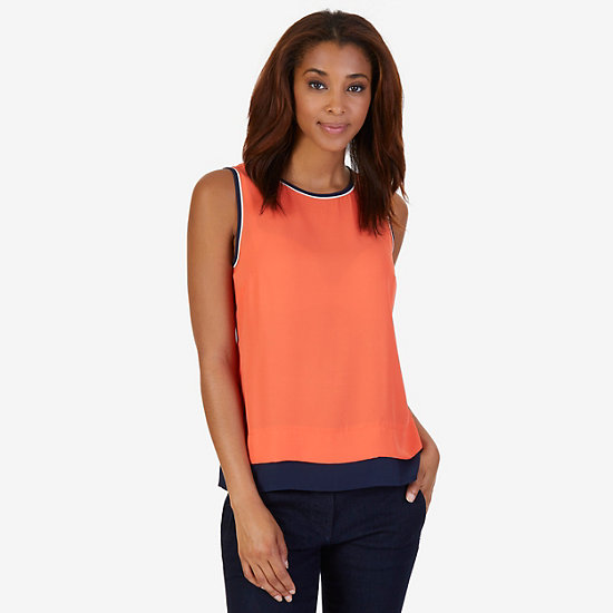 Georgette Layering Shell - Icelantic Orange