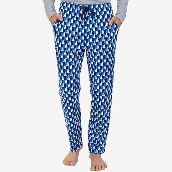 Sailboat Sueded Jersey Pajama Pant - True Navy