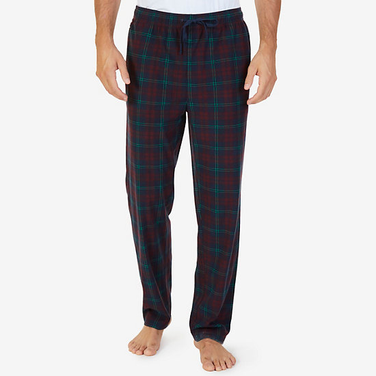 Cozy Fleece Plaid Pajama Pant - Navy