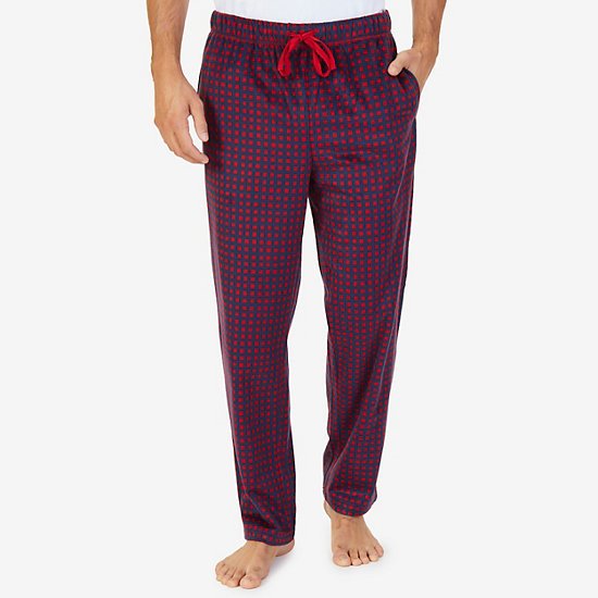 Check Sueded Fleece Pajama Pant - Nautica Red